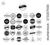 set of vintage premium quality...   Shutterstock .eps vector #373207030