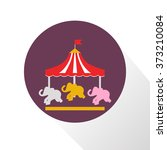 color children carousel icon | Shutterstock .eps vector #373210084