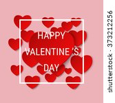 happy valentine s day abstract... | Shutterstock .eps vector #373212256