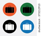 travel bag icon   Shutterstock .eps vector #373212913