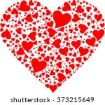 vector greeting card  heart ... | Shutterstock .eps vector #373215649