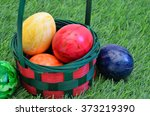 Colorful Easter Eggs In A...