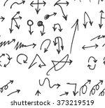 vector hand drawn arrows set...   Shutterstock .eps vector #373219519