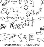 vector hand drawn arrows set... | Shutterstock .eps vector #373219549