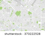 vector city map of milan  italy | Shutterstock .eps vector #373222528
