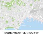 vector city map of naples  italy | Shutterstock .eps vector #373222549