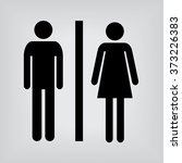 toilet sign | Shutterstock .eps vector #373226383