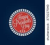 happy presidents' day lettering ... | Shutterstock .eps vector #373227040