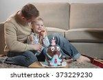 little boy celebrating his... | Shutterstock . vector #373229230