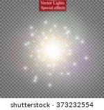 glow light effect. star burst... | Shutterstock .eps vector #373232554