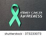 kelly green ribbon. kidney... | Shutterstock . vector #373233073