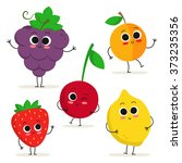 adorable collection of five... | Shutterstock .eps vector #373235356