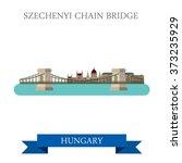 szechenyi chain bridge in... | Shutterstock .eps vector #373235929