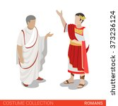 roman empire caesar and senator.... | Shutterstock .eps vector #373236124