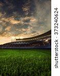 emptry stadium evening  | Shutterstock . vector #373240624