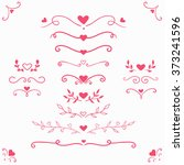 set of vintage romantic... | Shutterstock .eps vector #373241596