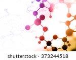 dna  molecule  chemistry in... | Shutterstock . vector #373244518