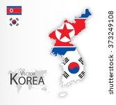 north korea and south korea  ...   Shutterstock .eps vector #373249108
