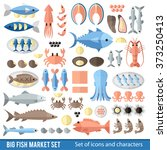 big vector collection of... | Shutterstock .eps vector #373250413