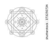 mystical geometry symbol.... | Shutterstock .eps vector #373250734