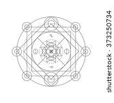 mystical geometry symbol.... | Shutterstock .eps vector #373250734