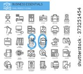 business essentials   thin line ... | Shutterstock .eps vector #373251454