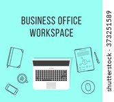 business office workspace with...