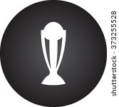 champion cup simple icon on... | Shutterstock .eps vector #373255528