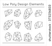 vector low poly design elements ... | Shutterstock .eps vector #373256833