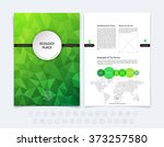 abstract business brochure ... | Shutterstock .eps vector #373257580