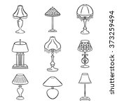 Set Of Sketched Table Lamps...