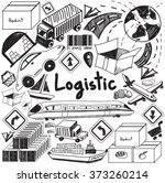 logistic transportation... | Shutterstock .eps vector #373260214