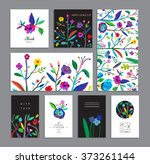 set of creative universal... | Shutterstock .eps vector #373261144