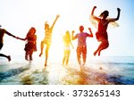 friendship freedom beach summer ... | Shutterstock . vector #373265143