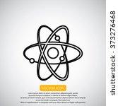atom sign vector icon | Shutterstock .eps vector #373276468