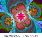 Colorful Fractal Background. A...