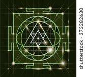 ganapati yantra   cosmic... | Shutterstock .eps vector #373282630