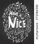 hand drawn greeting vector card.... | Shutterstock .eps vector #373286500
