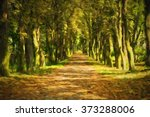 Oil Painting Pathway Through...