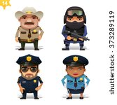 police professions set | Shutterstock .eps vector #373289119