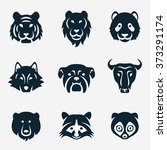 animal face vector icon set | Shutterstock .eps vector #373291174