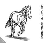 Engrave Ink Draw Horse...