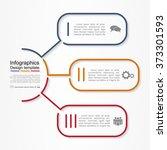 infographic report template... | Shutterstock .eps vector #373301593