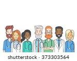 group medial doctors team work... | Shutterstock .eps vector #373303564