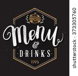 restaurant menu template hand... | Shutterstock .eps vector #373305760