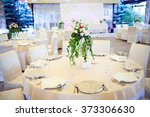 table set for wedding or... | Shutterstock . vector #373306630