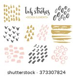 set of hand drawn stylish... | Shutterstock .eps vector #373307824