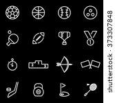 vector line sport icon set.   Shutterstock .eps vector #373307848