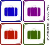 travel bag icon   Shutterstock .eps vector #373307983
