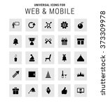 set of 25 universal icons | Shutterstock .eps vector #373309978